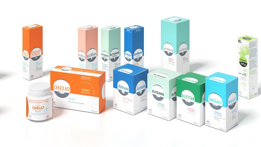 packs produits cosmétiques jaldes - infographiste 3d