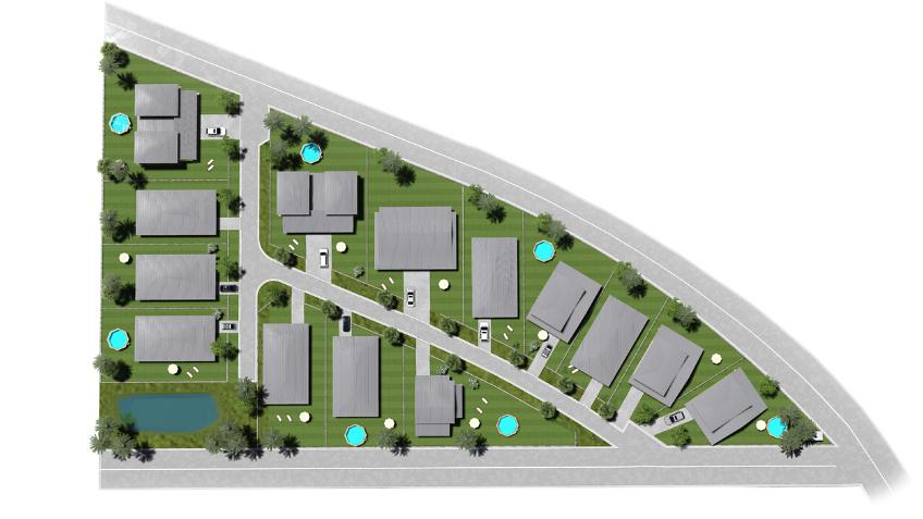 plan de masse - residence les jardins d'Angelina - Guyane