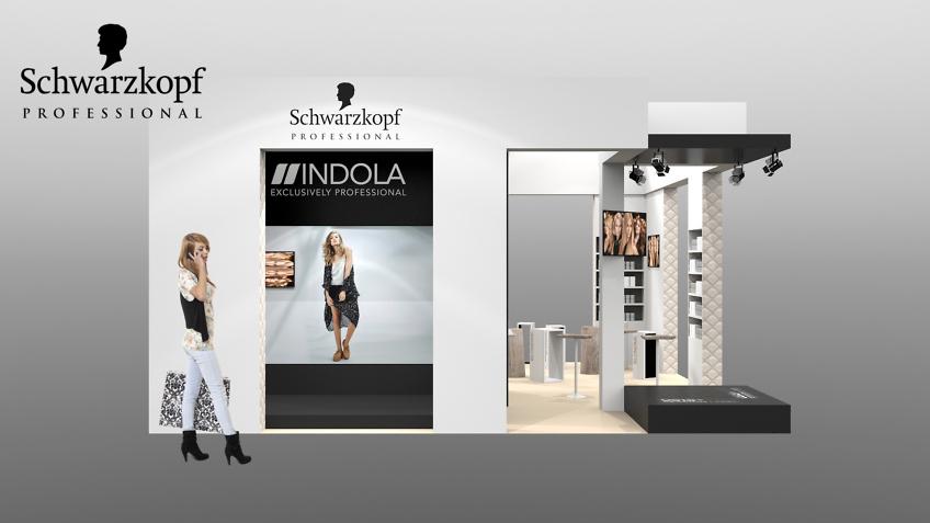 stand Schwarzkopf cosmétiques concepteur