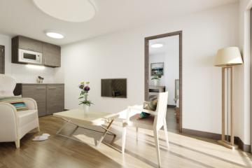 infographie 3d EHPAD - Marseille Gênes - séjour appartement