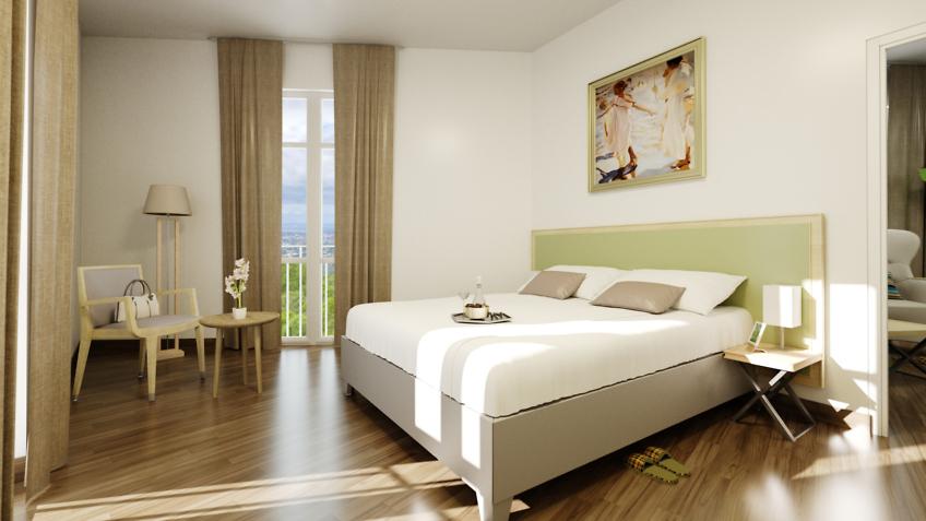 infographiste 3d EHPAD seniors chambre à coucher Marseille