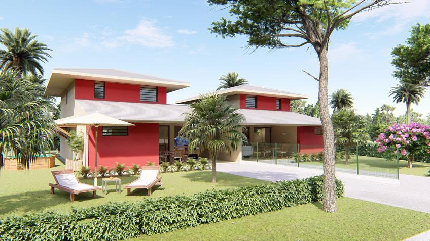 maison créole Guyane - perspective 3D - Creolia