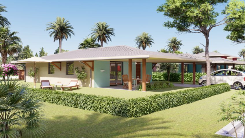 perspective 3d immobiliere maison plein pied Guyane