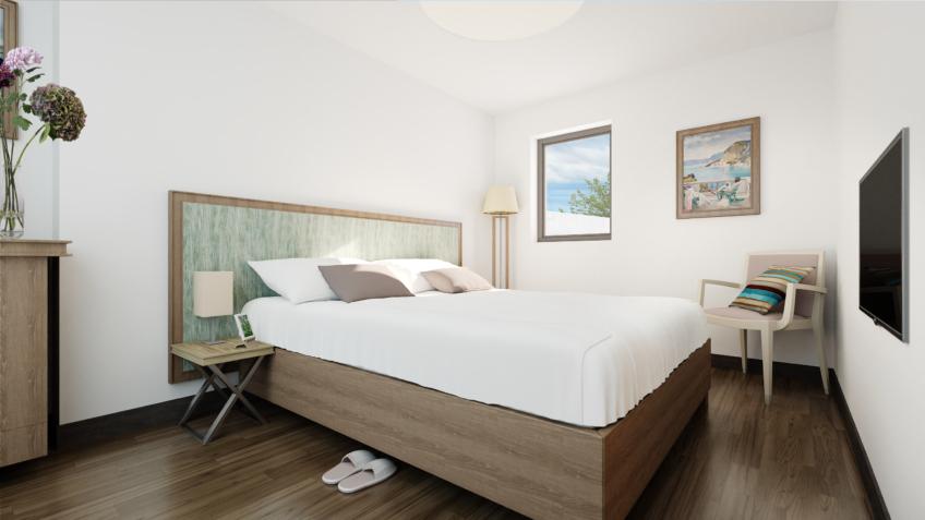 perspective 3d EHPAD Marseille Gênes chambre à coucher