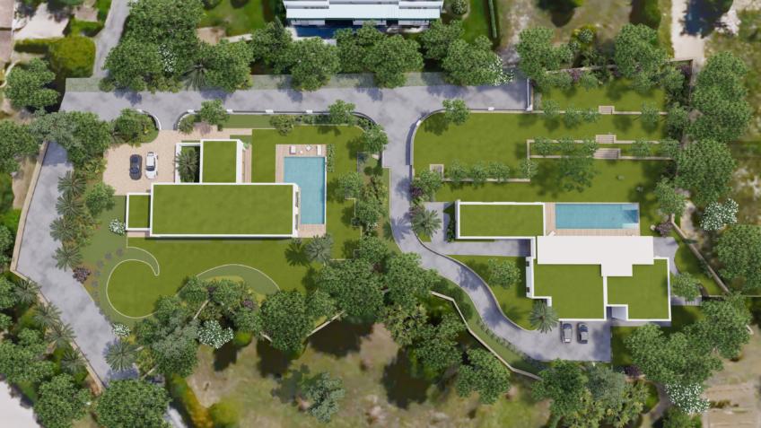 plan de masse - axonométrie villa de luxe - jean-de-figue