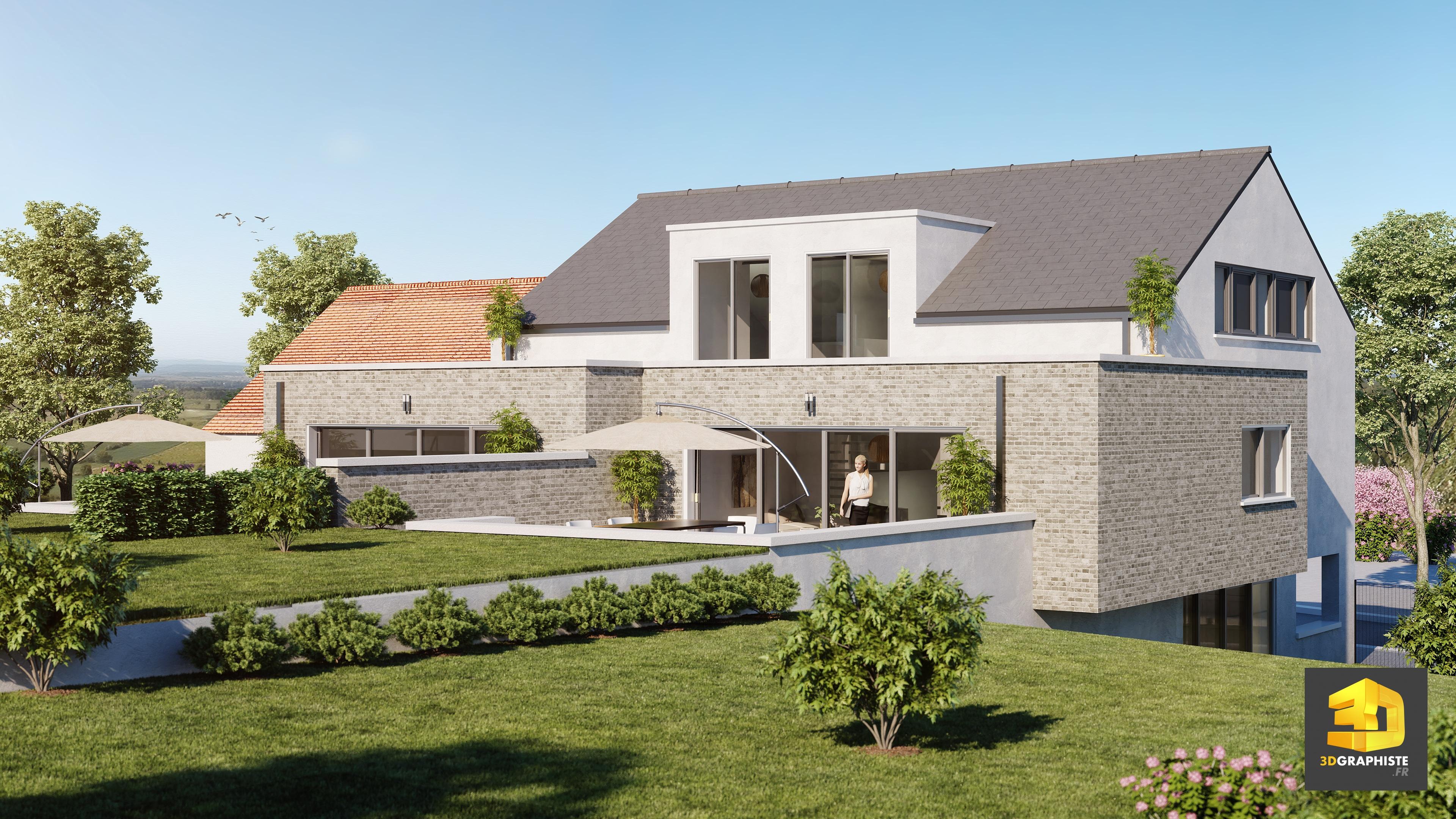 perspectives 3d immobili res belgique 3dgraphiste fr. Black Bedroom Furniture Sets. Home Design Ideas