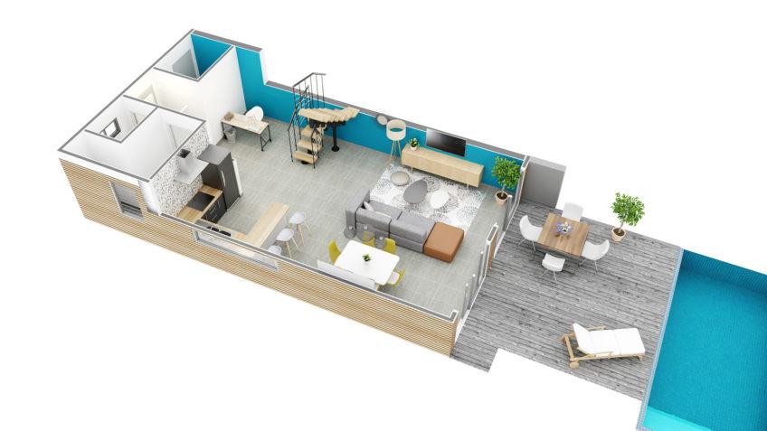 axonométrie 3D - villa nouvelle Calédonie