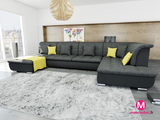 modelisation 3d canapé dans salon / séjour
