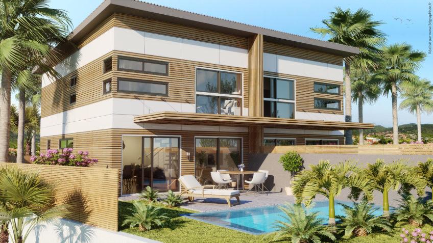 Perspective 3D villa - Nouméa, Nouvelle-Calédonie