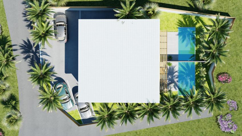 plan de masse - axonométrie - villa Nouméa Nouvelle-Calédonie