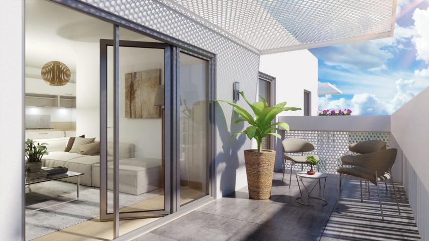 freelance 3d architecture Montpellier - perspective balcon