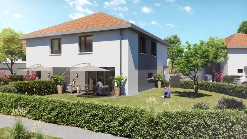 graphiste 3d architecture freelance grenoble - perspective 3d maison