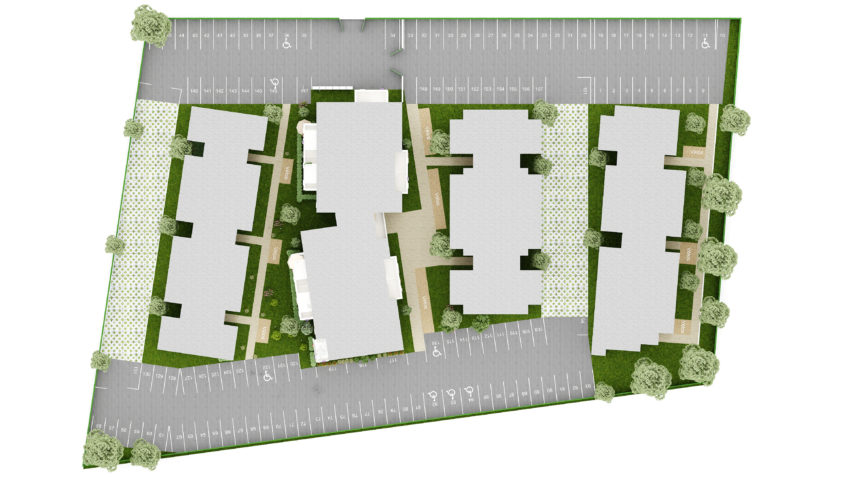 infographiste 3d freelance - plan de masse - résidence Montpellier