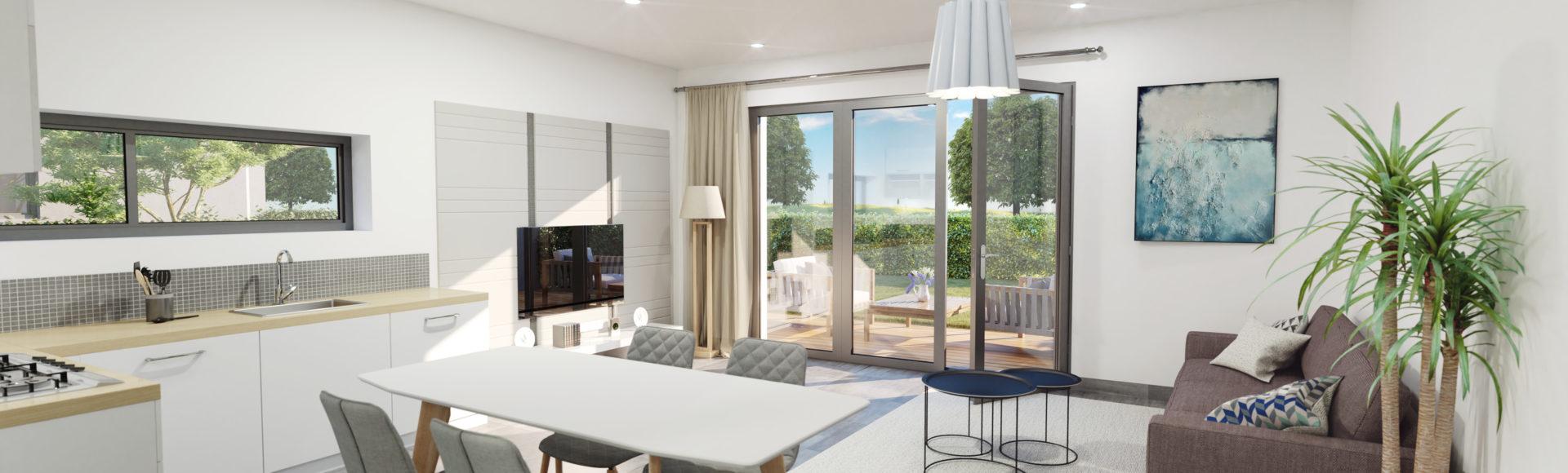 infographiste 3d immobilier freelance Grenoble - perspective séjour
