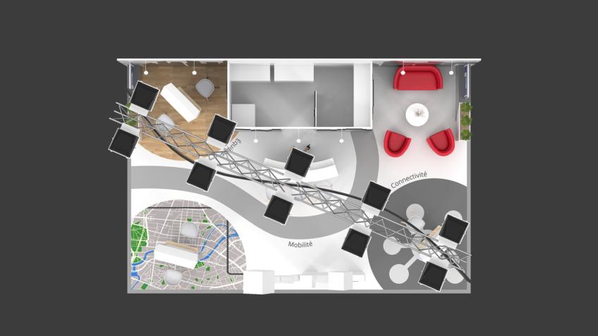 infographiste plan de-stand Qpark