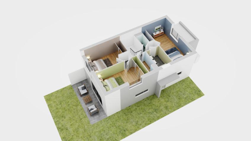 perspectiviste 3d grenoble freelance - plan-de vente maison