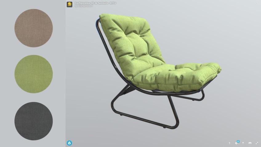configurateur 3d fauteuil