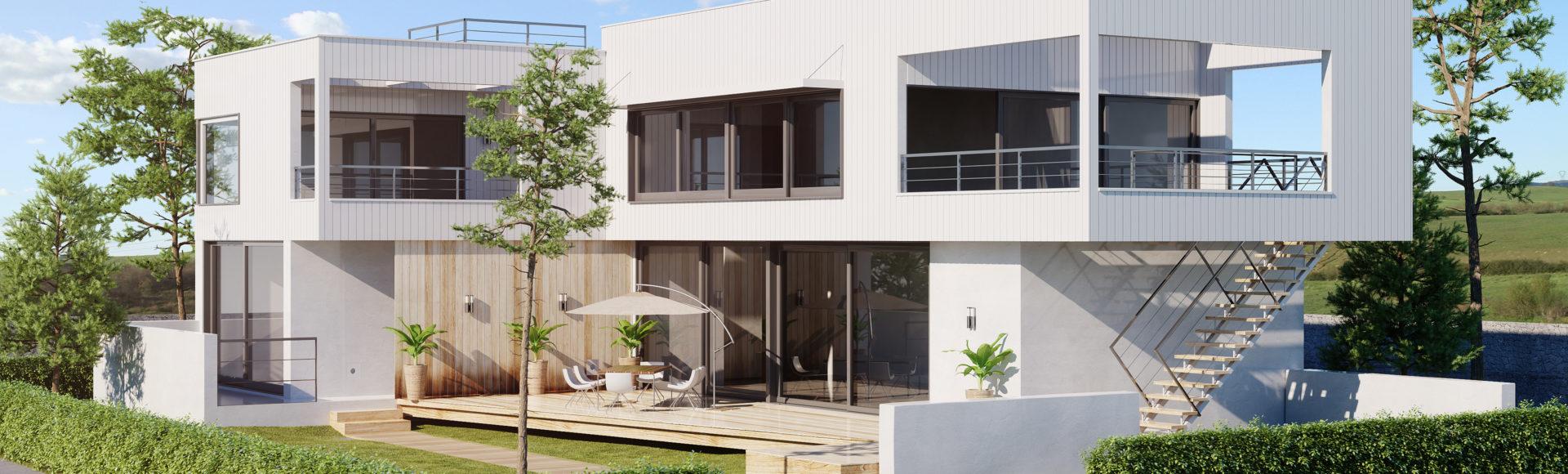 freelance architecture - perspective 3d maison d'architecte
