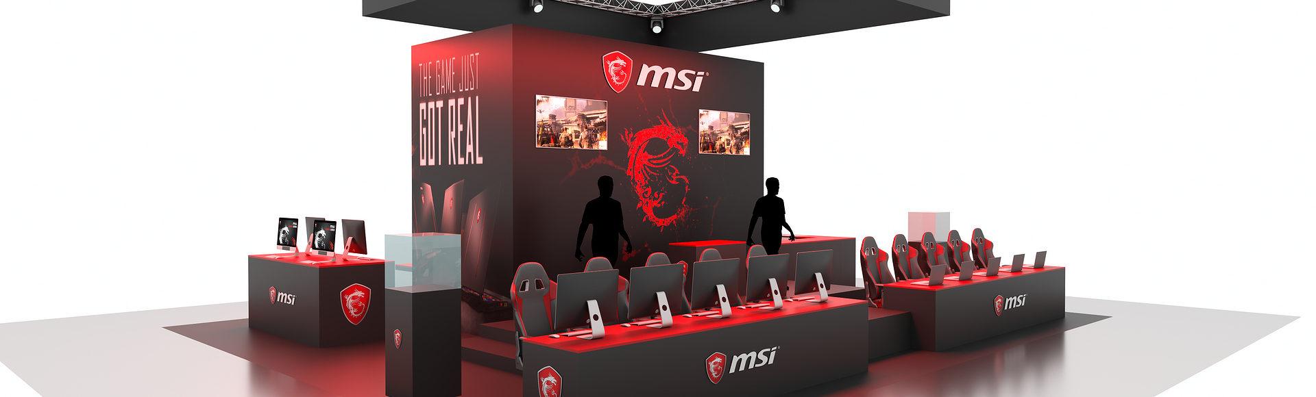 stand jeux vidéo MSI - concepteur freelance